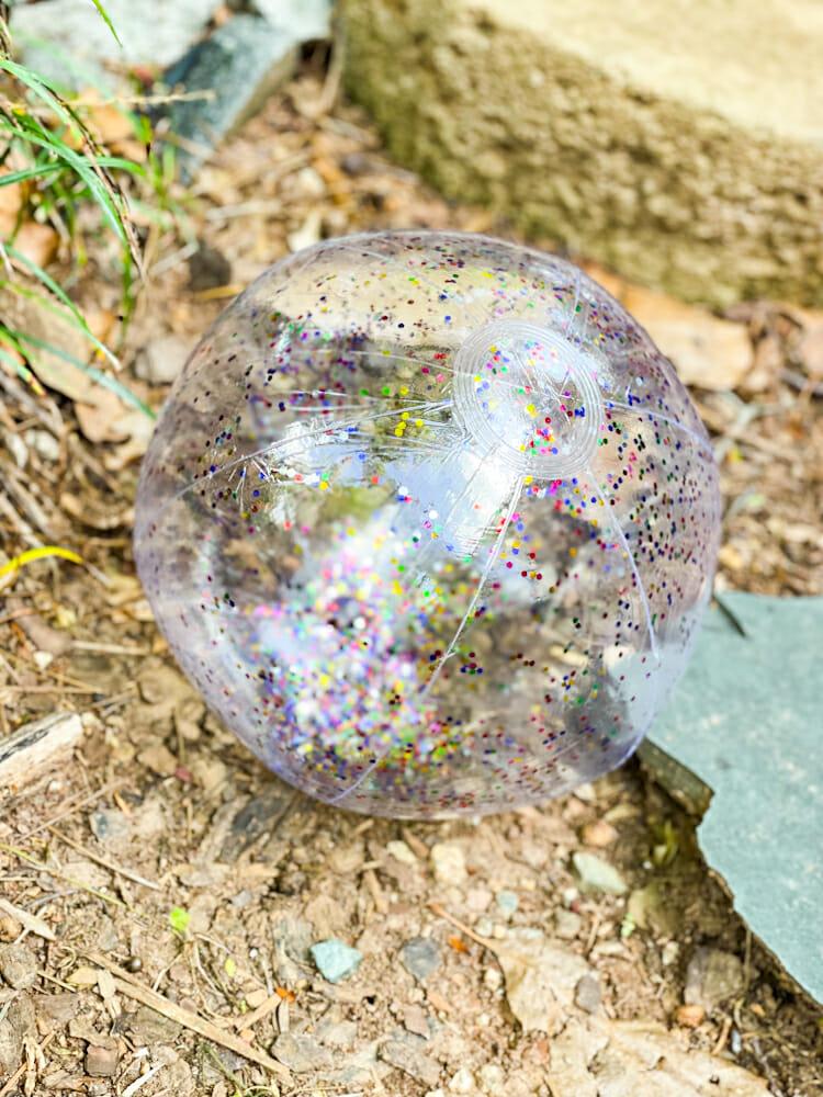 rainbow glitter ball