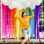 rainbow party backdrop