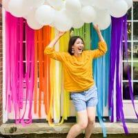 Rainbow Themed Patio Party