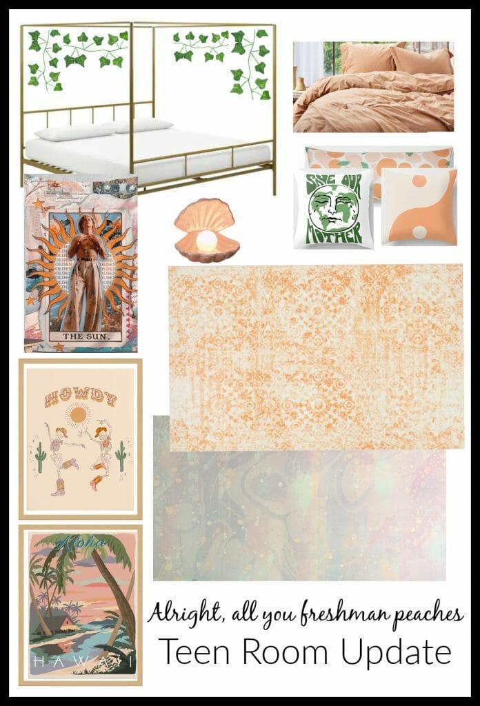Peach Girls Room Plan